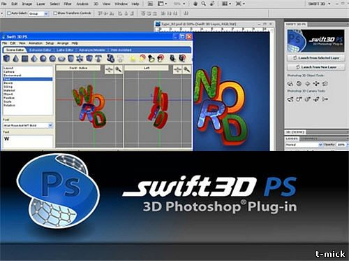 Electric Rain Swift 3D PS v1.0.141 Plugin Photoshop